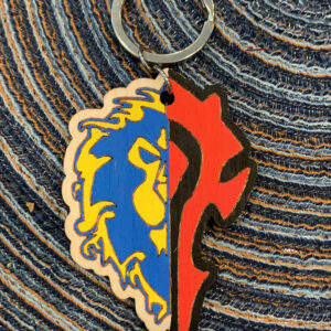 Dual Faction Combined Keychain